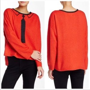Wildfox Faux Tie Sweater